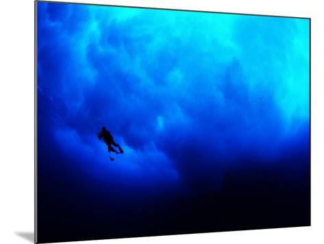 Undertow Along the Submerged Underwater Cliffs at Coco Island-Andrea Ferrari-Mounted Photographic Print