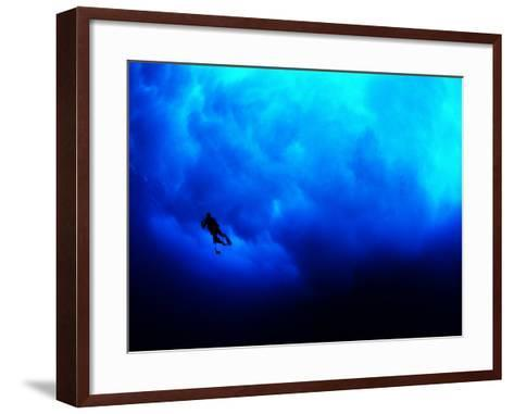 Undertow Along the Submerged Underwater Cliffs at Coco Island-Andrea Ferrari-Framed Art Print