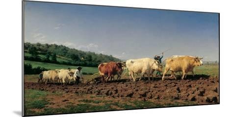 Ploughing in the Region of Nevers: Clearance-Bonheur Marie Rosa-Mounted Photographic Print