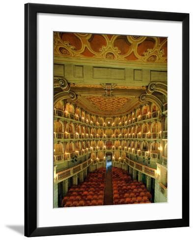 """Bibiena Theater known as the """"Scientifico""""--Framed Art Print"""