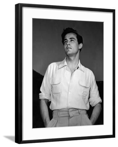 Portrait of Vittorio Gassman--Framed Art Print