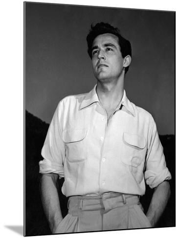 Portrait of Vittorio Gassman--Mounted Photographic Print
