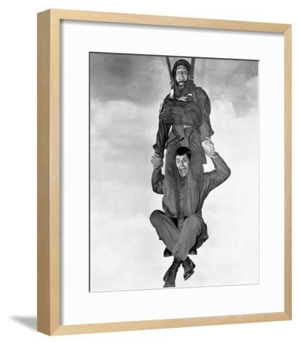 Jerry Lewis and Dean Martin in Jumping Jacks--Framed Art Print