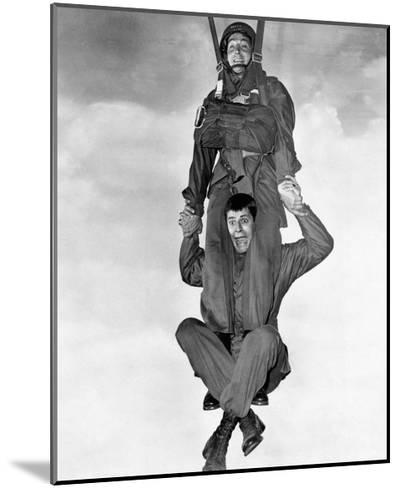 Jerry Lewis and Dean Martin in Jumping Jacks--Mounted Photographic Print