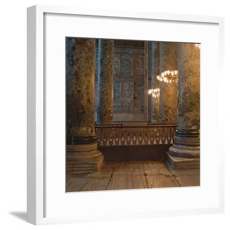 Haghia Sofia Basilica-Isidore of Miletus-Framed Art Print