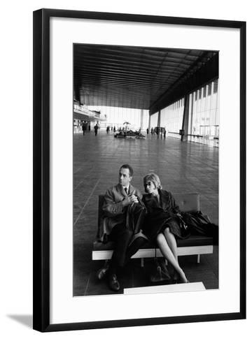 Monica Vitti with Michelangelo Antonioni--Framed Art Print
