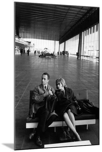 Monica Vitti with Michelangelo Antonioni--Mounted Photographic Print