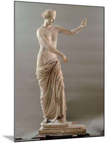 Statue of Aphrodite Type Capua, 2nd Century, White Marble, Full Relief--Mounted Photographic Print