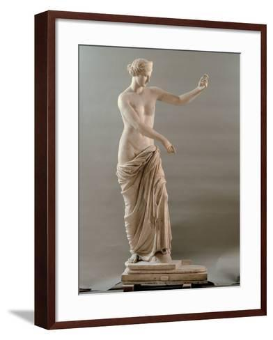 Statue of Aphrodite Type Capua, 2nd Century, White Marble, Full Relief--Framed Art Print