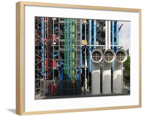 Pompidou Center in Paris-Ove Arup and Partners-Framed Art Print