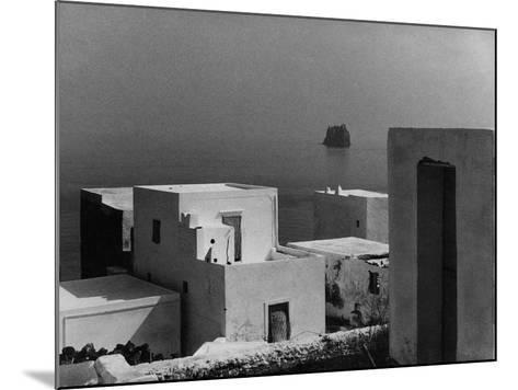 Houses in Stromboli Island--Mounted Photographic Print
