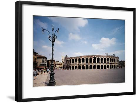 The Arena Or Roman Amphitheatre in Verona, 1st Century, Marble and Brick--Framed Art Print