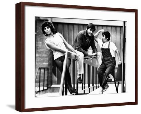 Paola Pitagora and Gianni Morandi on the Set of Jacopone--Framed Art Print