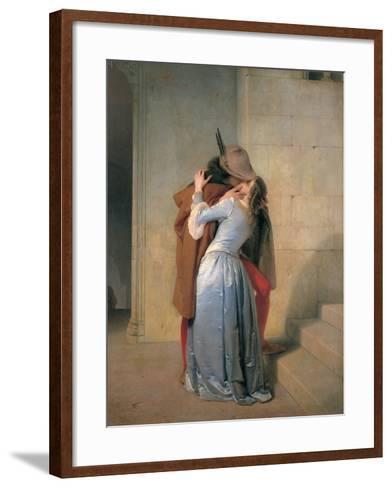 The Kiss-Hayez Francesco-Framed Art Print