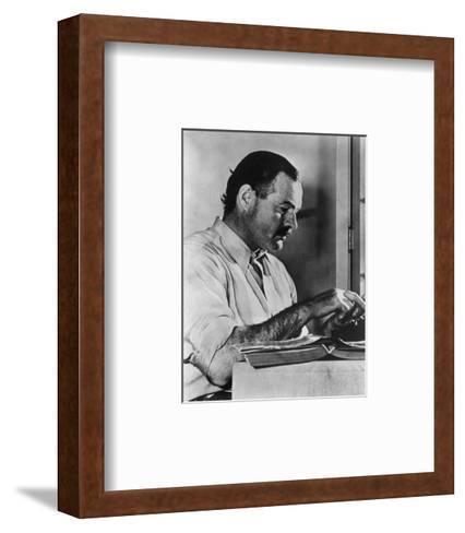 Ernest Hemingway Typewriting--Framed Art Print