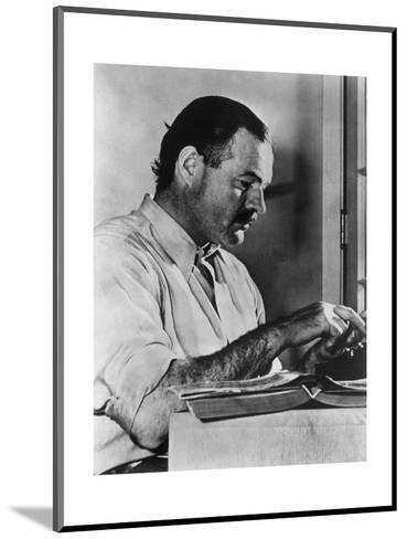 Ernest Hemingway Typewriting--Mounted Photographic Print