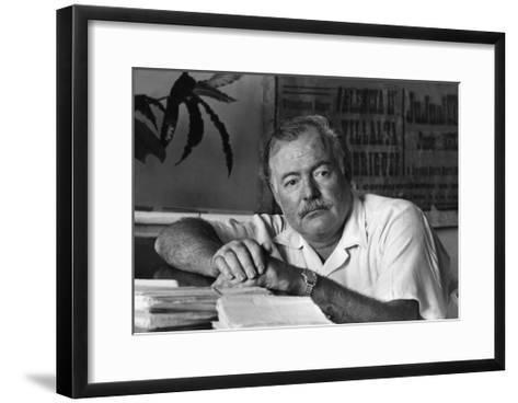 Ernest Hemingway in His Office--Framed Art Print