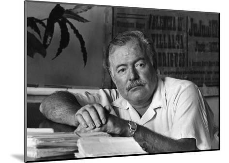 Ernest Hemingway in His Office--Mounted Photographic Print