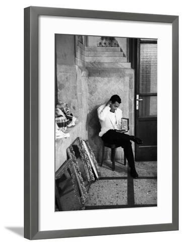 Alberto Sordi at the 11th Edition of Nastro D'Argento Film Awards--Framed Art Print