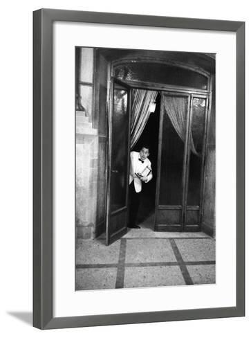 Alberto Sordi at the 11th Edition of Nastro D'Argento Film Awards--Framed Art Print