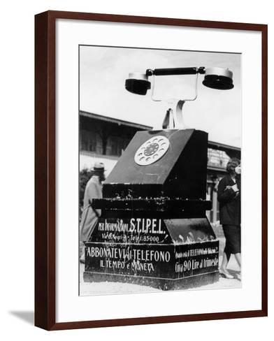 An Advertising Campaign at the Trade Fair in Milan--Framed Art Print
