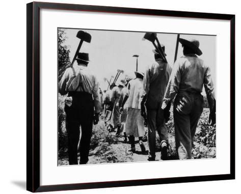 Black Slaves Going to Work--Framed Art Print