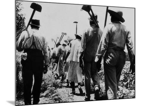 Black Slaves Going to Work--Mounted Photographic Print