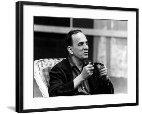 Ingmar Bergman Sitting Down--Framed Art Print