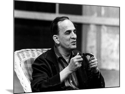 Ingmar Bergman Sitting Down--Mounted Photographic Print