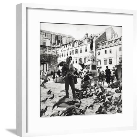 Dubrovnik's Marketplace--Framed Art Print