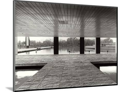 The Entrance of the Offices in the Mondadori Buiding by Oscar Niemeyer, 1970-1974--Mounted Photographic Print