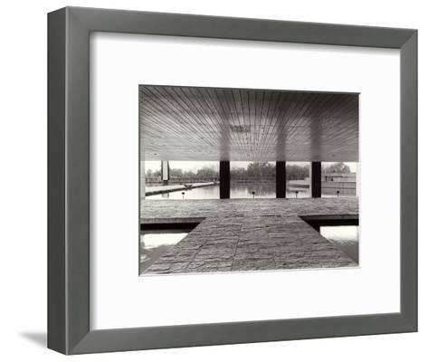The Entrance of the Offices in the Mondadori Buiding by Oscar Niemeyer, 1970-1974--Framed Art Print
