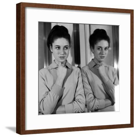 Gigliola Cinquetti with Her Arms Folded--Framed Art Print