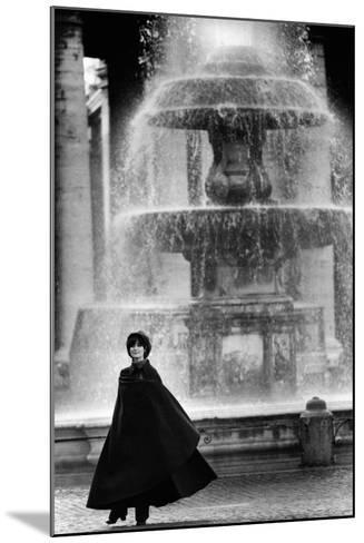 Anna Maria Guarnieri in Front of a Fountain--Mounted Photographic Print
