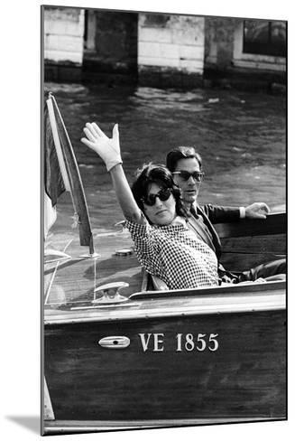 Anna Magnani and Pier Paolo Pasolini--Mounted Photographic Print