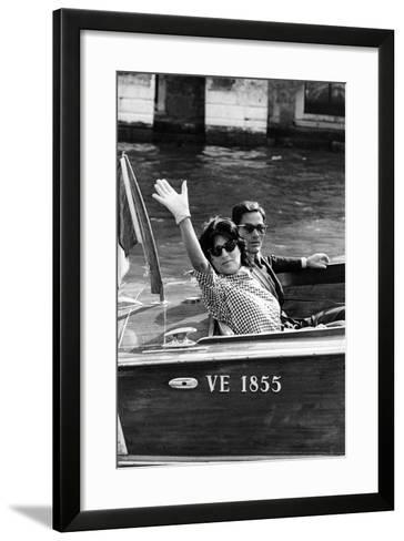Anna Magnani and Pier Paolo Pasolini--Framed Art Print