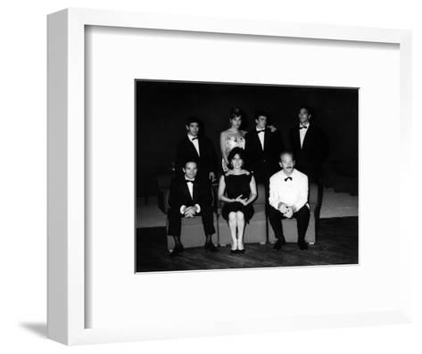 The Producer, Director, Actors and Crew of 'Mamma Roma' at the Film Festival, Venice, Sept 1962--Framed Art Print