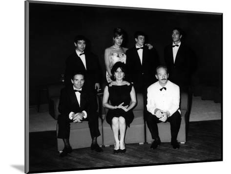 The Producer, Director, Actors and Crew of 'Mamma Roma' at the Film Festival, Venice, Sept 1962--Mounted Photographic Print