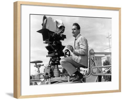 Alberto Sordi on the Set--Framed Art Print