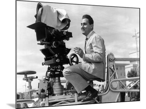 Alberto Sordi on the Set--Mounted Photographic Print