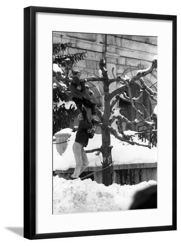 Two Kids Playing--Framed Art Print