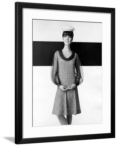 A Model Poses in a High-fashion Dress--Framed Art Print