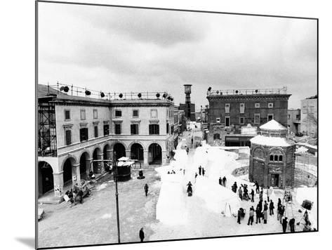 Aerial View of the Set of the Film Amarcord--Mounted Photographic Print