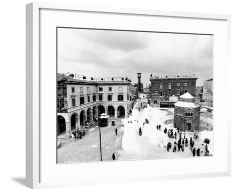 Aerial View of the Set of the Film Amarcord--Framed Art Print