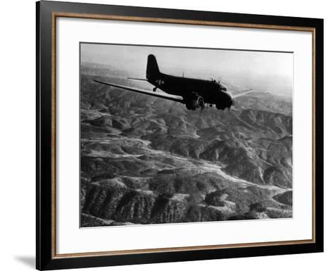 U.S. Plane Flying over the Himalayas--Framed Art Print