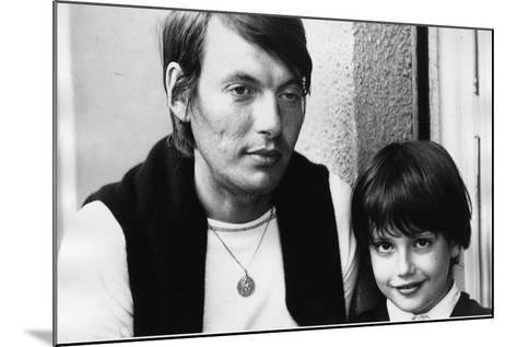 Portrait of Fabrizio De Andre with Son Cristiano--Mounted Photographic Print