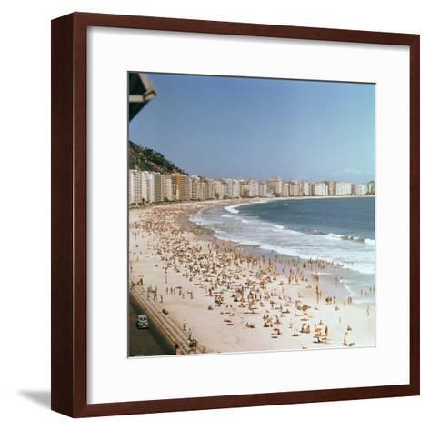 Copacabana Beach--Framed Art Print