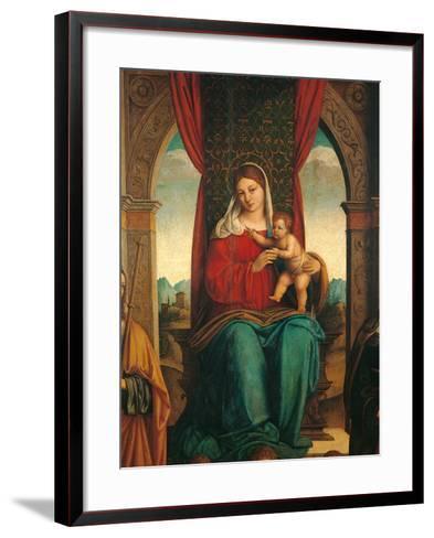 Madonna and Child with Saints James of Galicia and Helena-Niccol Bartolomeo-Framed Art Print