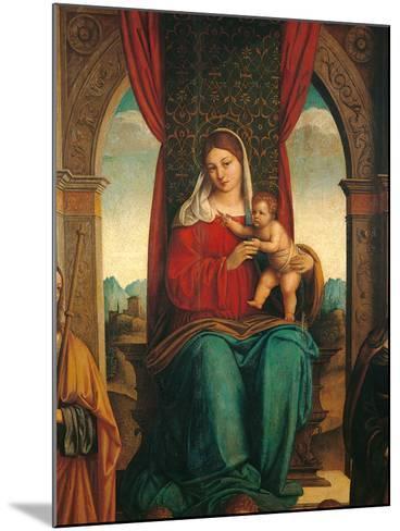 Madonna and Child with Saints James of Galicia and Helena-Niccol Bartolomeo-Mounted Photographic Print