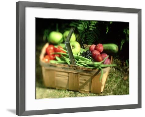 Fruit and Vegetables from the Garden, Kent-David Tipling-Framed Art Print